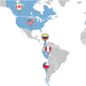 map of americas distributor locations