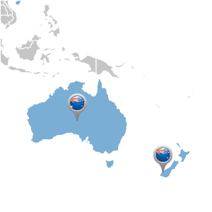 map of australasia distributor locations