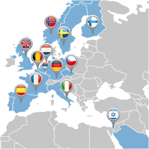 map of europe distributor locations