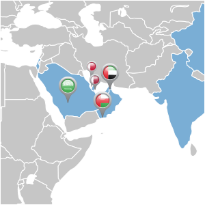 map of middle east distributor locations