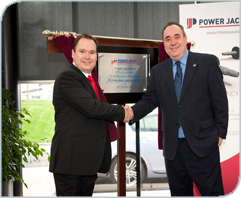 First Minister hails Power Jacks' global success as 'way forward for Scottish firms.'