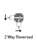 2 solid shaft reversed gearbox