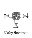 3 way reversed solid shaft gearbox
